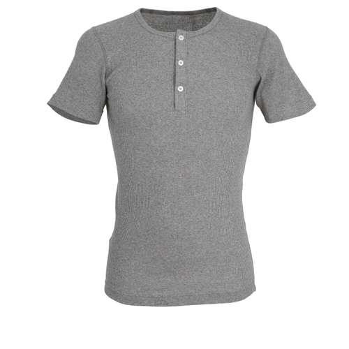 CECEBA Herren Shirt grau uni 1er Pack im 0° Winkel