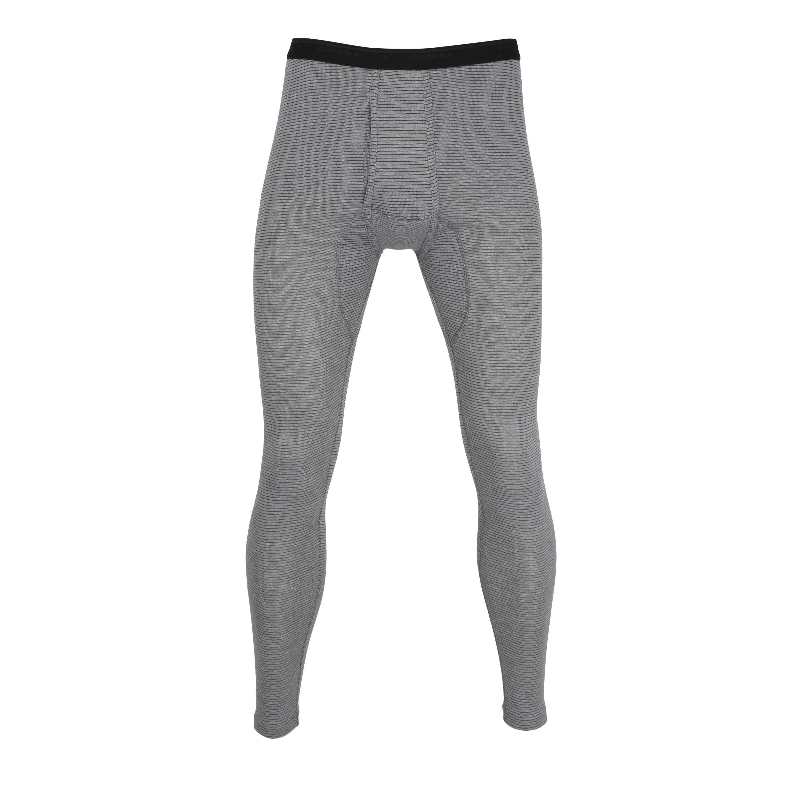 ceceba herren lange unterhose mit eingriff grau uni 1er pack. Black Bedroom Furniture Sets. Home Design Ideas