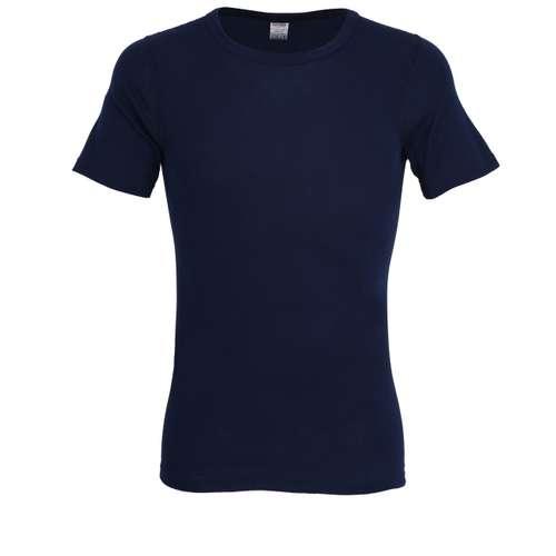 CECEBA Herren T-Shirt blau uni 1er Pack im 0° Winkel