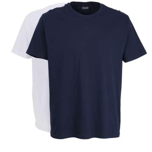 Bild von CECEBA Herren Unterhemd blau melange 2er Pack 0° Ansicht