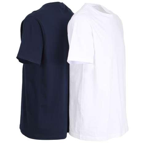 Bild von CECEBA Herren Unterhemd blau melange 2er Pack 120° Ansicht