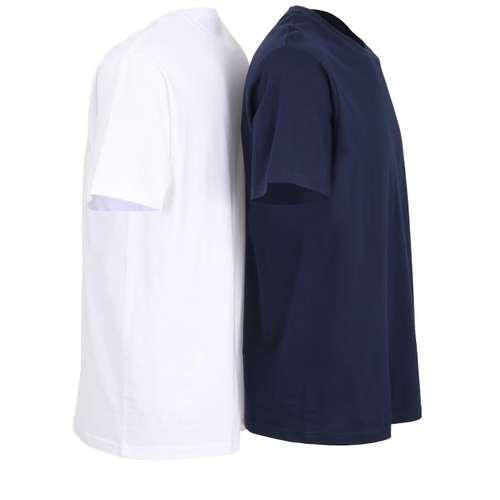 Bild von CECEBA Herren Unterhemd blau melange 2er Pack 290° Ansicht