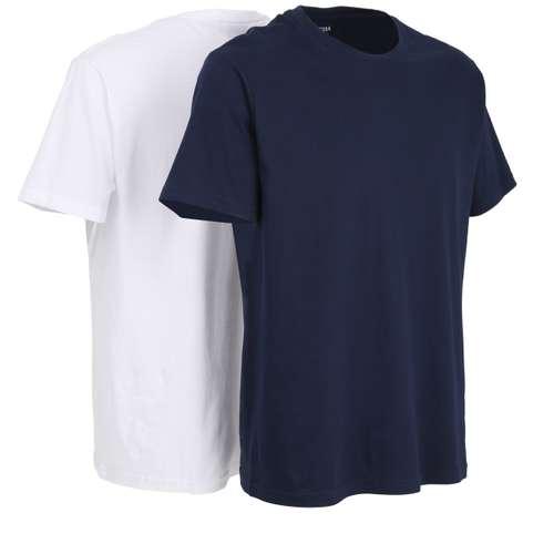 Bild von CECEBA Herren Unterhemd blau melange 2er Pack 330° Ansicht