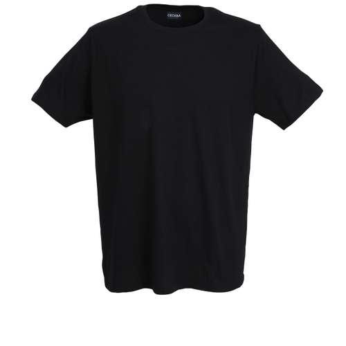 CECEBA Herren T-Shirt schwarz uni 2er Pack im 0° Winkel