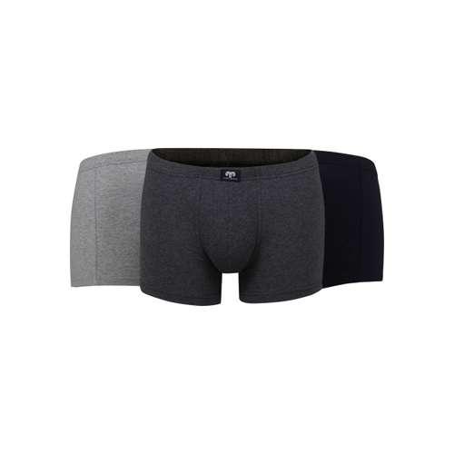 CECEBA Herren Pants grau uni 3er Pack im 0° Winkel