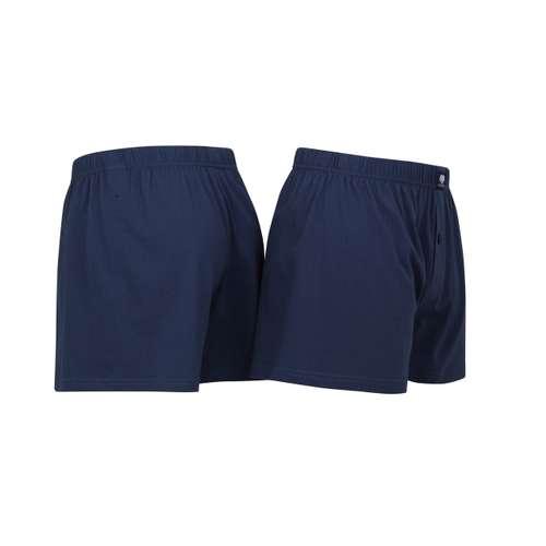 Bild von CECEBA Herren Boxershort blau uni 2er Pack 120° Ansicht