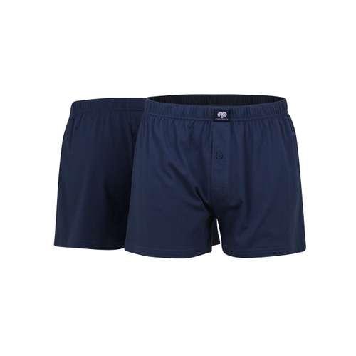Bild von CECEBA Herren Boxershort blau uni 2er Pack 180° Ansicht