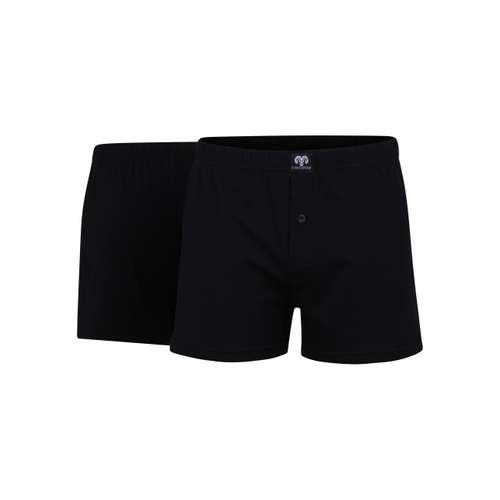 CECEBA Herren Boxershort schwarz uni 2er Pack im 0° Winkel