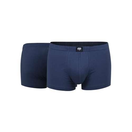 CECEBA Herren Short-Pants blau uni 2er Pack im 0° Winkel
