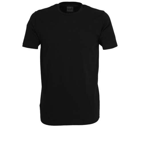 HOMEBOY Herren T-Shirt schwarz uni 2er Pack im 0° Winkel