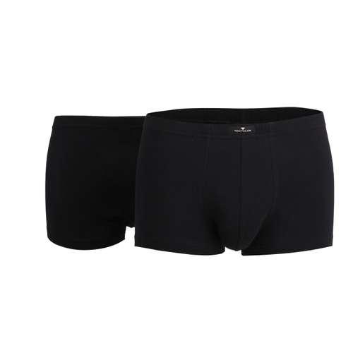 Bild von TOM TAILOR Herren Hip Pants schwarz uni 2er Pack 0° Ansicht