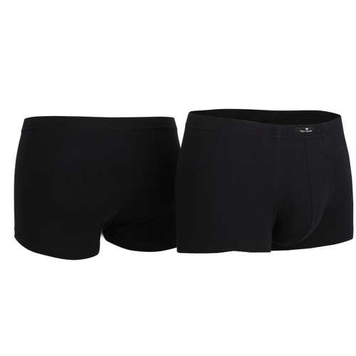 Bild von TOM TAILOR Herren Hip Pants schwarz uni 2er Pack 330° Ansicht
