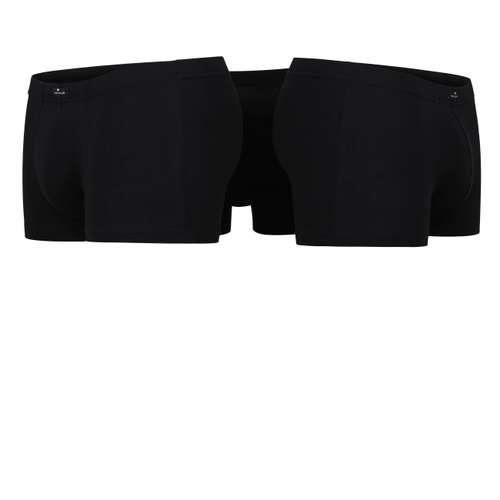 Bild von TOM TAILOR Herren Hip Pants schwarz uni 3er Pack 180° Ansicht