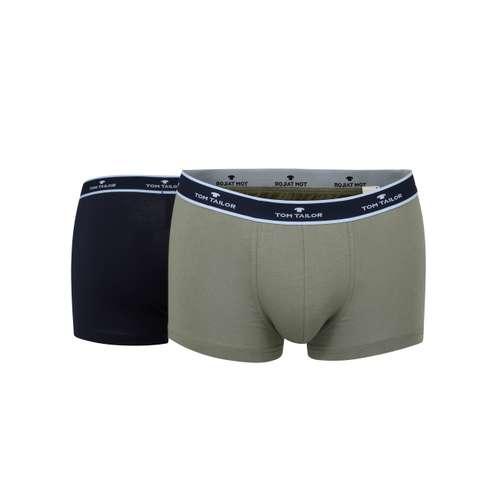 TOM TAILOR Herren Hip Pants grün melange 2er Pack im 0° Winkel