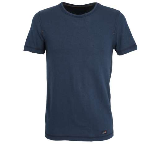 CECEBA Herren T-Shirt blau melange 1er Pack im 0° Winkel