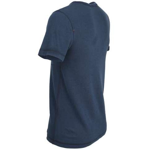 Bild von CECEBA Herren Unterhemd blau melange 1er Pack 120° Ansicht