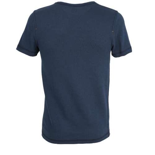 Bild von CECEBA Herren Unterhemd blau melange 1er Pack 180° Ansicht