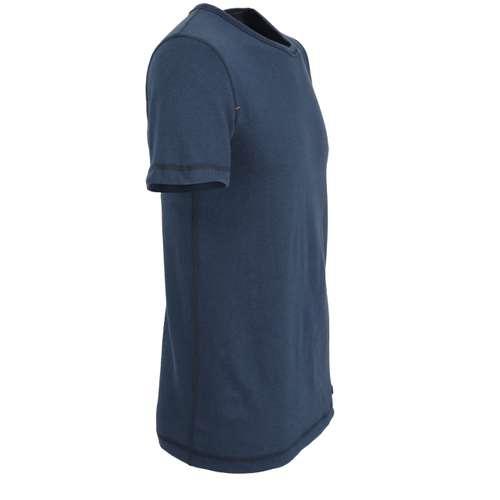 Bild von CECEBA Herren Unterhemd blau melange 1er Pack 290° Ansicht