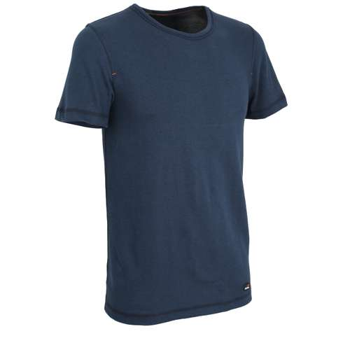 Bild von CECEBA Herren Unterhemd blau melange 1er Pack 330° Ansicht