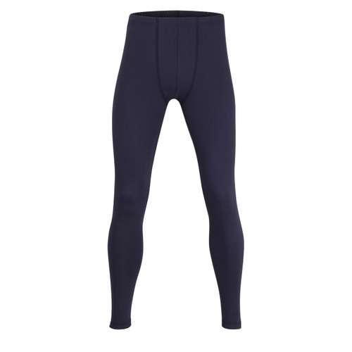 CECEBA Herren lange Unterhose blau melange 1er Pack im 0° Winkel