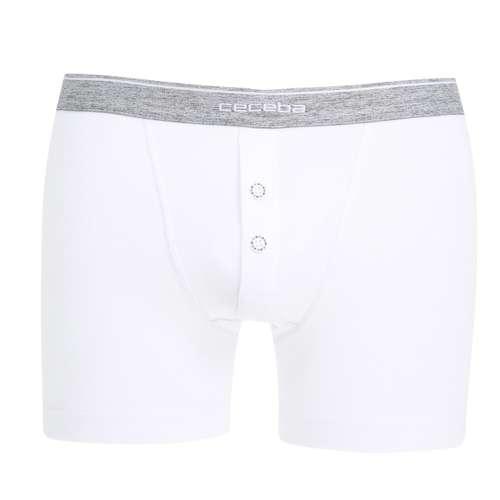 CECEBA Herren Long-Pants weiß uni 1er Pack im 0° Winkel