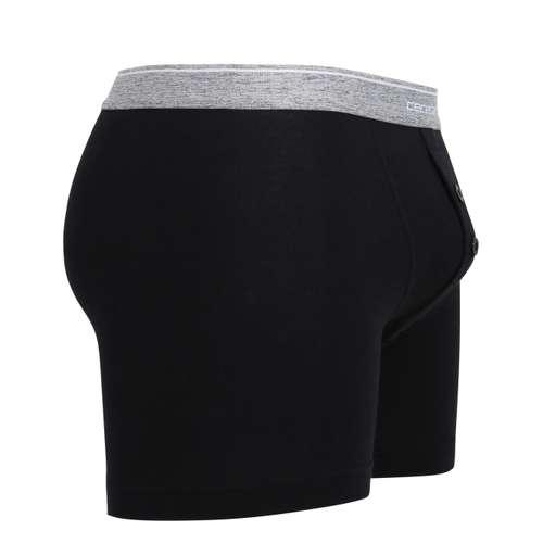 Bild von CECEBA Herren Long-Pants schwarz uni 1er Pack 290° Ansicht