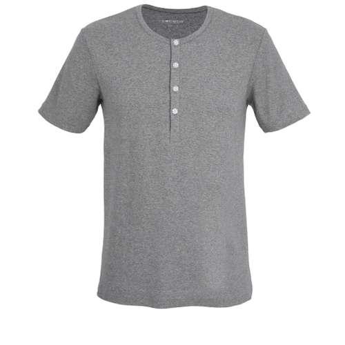 CECEBA Herren Shirt grau melange 1er Pack im 0° Winkel