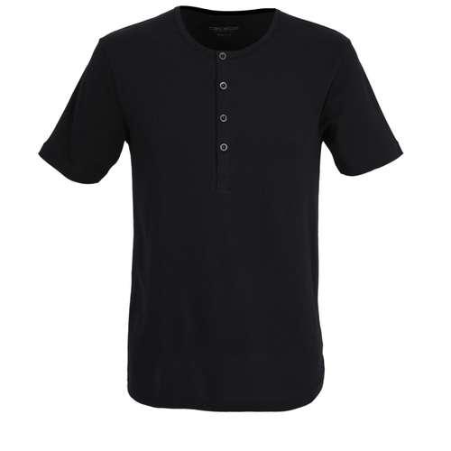 CECEBA Herren Shirt schwarz melange 1er Pack im 0° Winkel