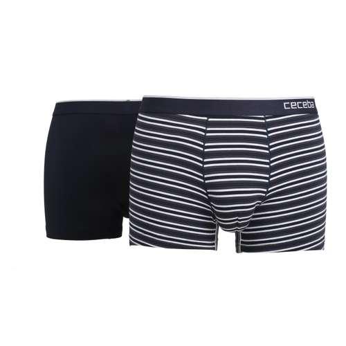 CECEBA Herren Pants blau quergestreift 2er Pack im 0° Winkel