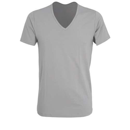 Bild von CECEBA Herren Unterhemd grau uni 1er Pack 0° Ansicht