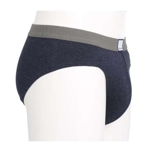 Bild von CECEBA Herren Hip-Sport-Slip blau melange 1er Pack 290° Ansicht