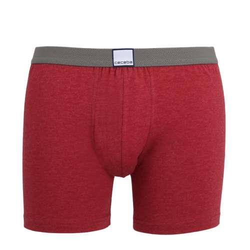 CECEBA Herren Long-Pants rot melange 1er Pack im 0° Winkel