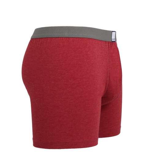 Bild von CECEBA Herren Long-Pants rot melange 1er Pack 290° Ansicht