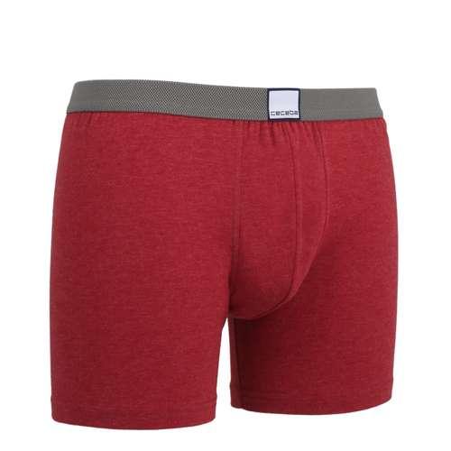 Bild von CECEBA Herren Long-Pants rot melange 1er Pack 330° Ansicht