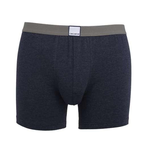CECEBA Herren Long-Pants blau melange 1er Pack im 0° Winkel
