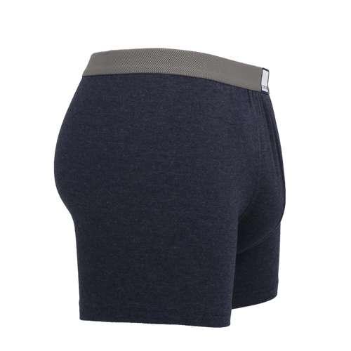 Bild von CECEBA Herren Long-Pants blau melange 1er Pack 290° Ansicht