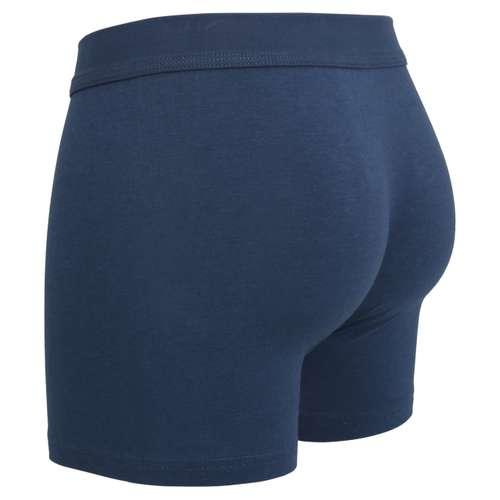 Bild von CECEBA Herren Long-Pants blau uni 1er Pack 120° Ansicht