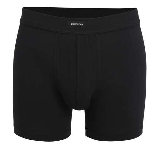 CECEBA Herren Long-Pants schwarz uni 1er Pack im 0° Winkel