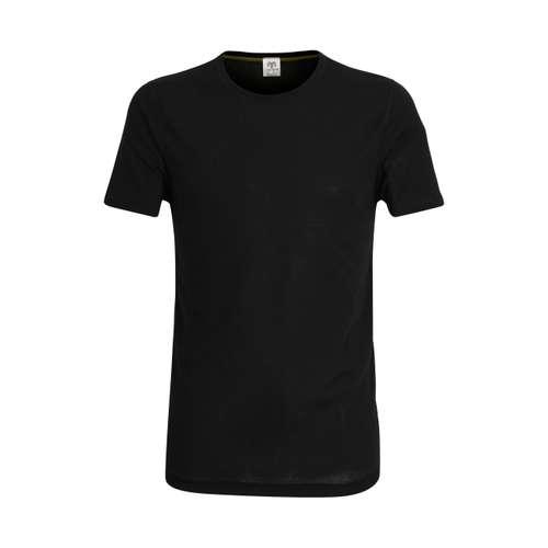 CECEBA Herren Shirt schwarz uni 1er Pack im 0° Winkel