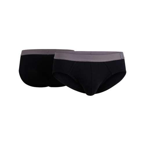 CECEBA Herren Hip-Sport-Slip schwarz melange 2er Pack im 0° Winkel