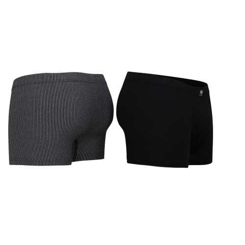 Bild von CECEBA Herren Pants schwarz längsgestreift 2er Pack 120° Ansicht