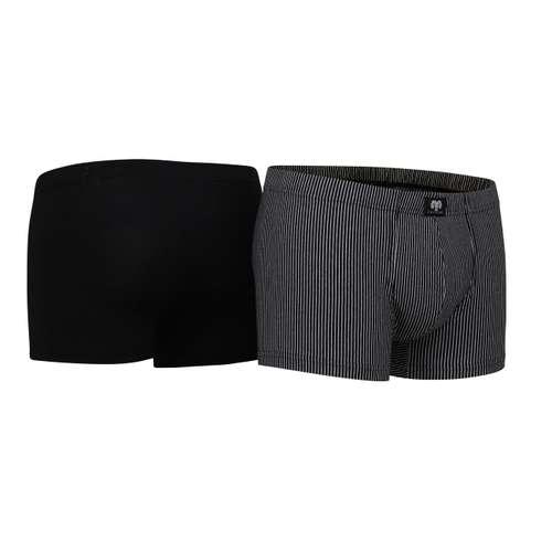 Bild von CECEBA Herren Pants schwarz längsgestreift 2er Pack 330° Ansicht