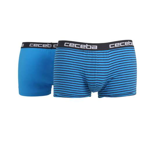 CECEBA Herren Short-Pants blau quergestreift 2er Pack im 0° Winkel
