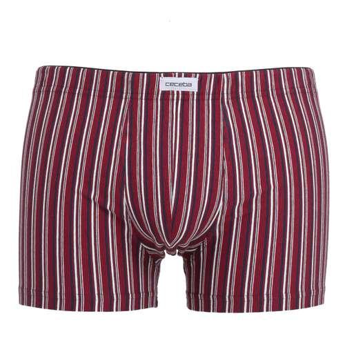 CECEBA Herren Pants rot längsgestreift 1er Pack im 0° Winkel