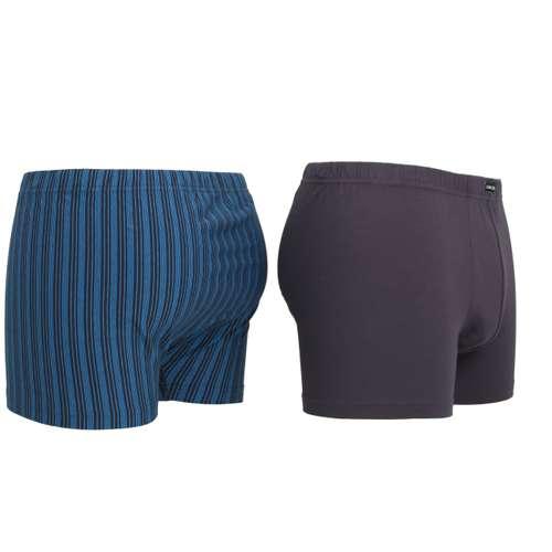 Bild von CECEBA Herren Pants blau längsgestreift 2er Pack 120° Ansicht
