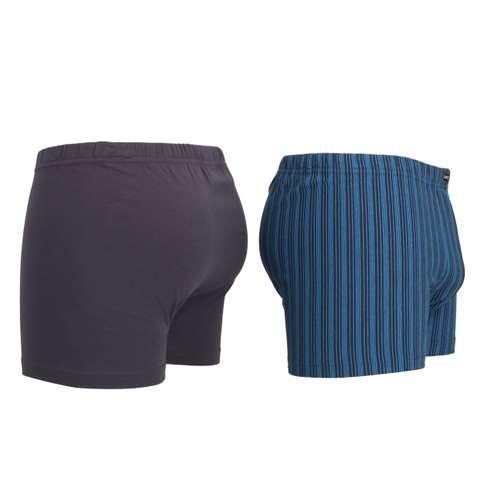 Bild von CECEBA Herren Pants blau längsgestreift 2er Pack 290° Ansicht