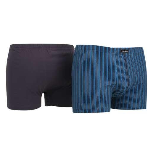 Bild von CECEBA Herren Pants blau längsgestreift 2er Pack 330° Ansicht