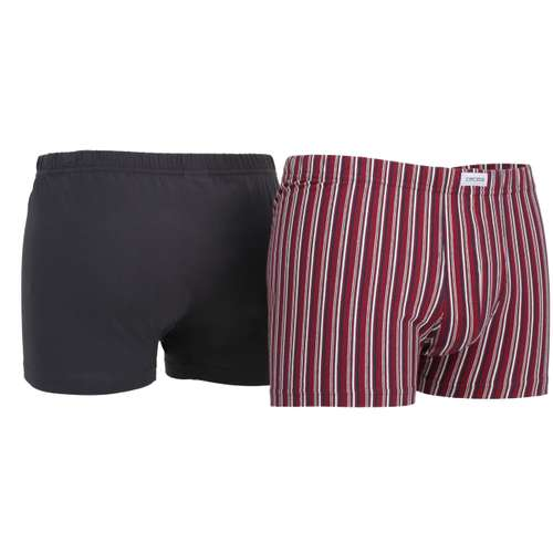 Bild von CECEBA Herren Pants rot längsgestreift 2er Pack 330° Ansicht