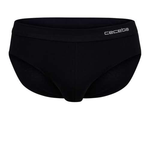 CECEBA Herren Sport-Slip schwarz uni 1er Pack im 0° Winkel