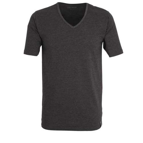 CECEBA Herren T-Shirt schwarz uni 1er Pack im 0° Winkel
